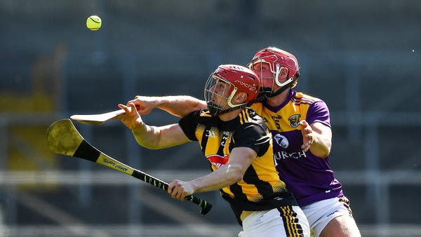 James Maher of Kilkenny in action against Gavin Bailey of Wexford