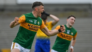 David Clifford celebrates after scoring Kerry's first goal