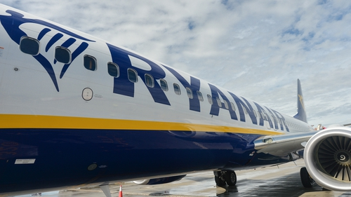 The incident happened on a Ryanair flight