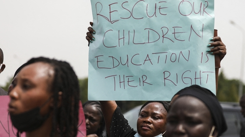 Earlier this month, relatives of students abducted in Nigeria protested against the spate of kidnappings