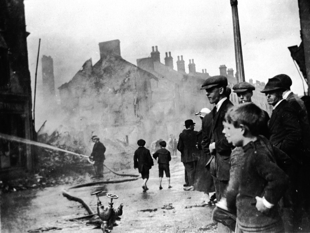 Firemen putting out a fire in Lisburn, 1921 Photo by Sean Sexton/Getty Images)