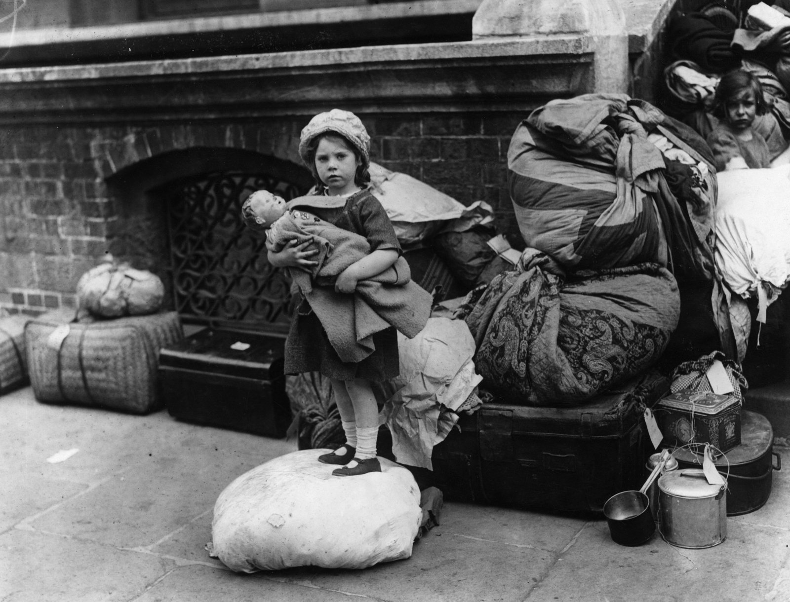 Image - A Catholic child arrives in Dublin in June 1922, having fled violence in Belfast Photo: Topical Press Agency/Getty Images
