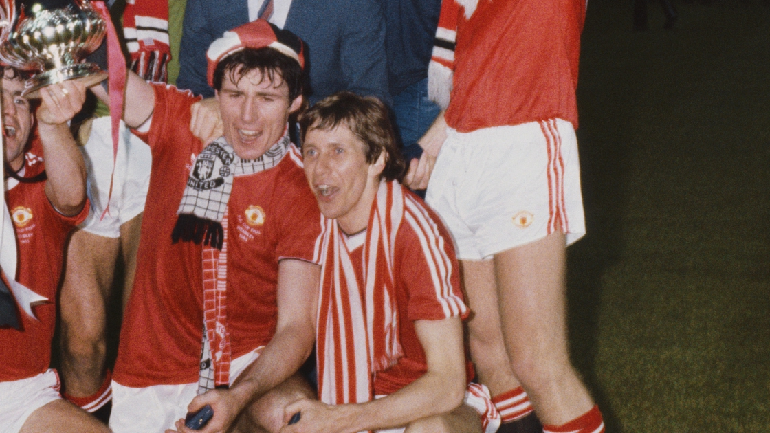 Image - Frank Stapleton and Arnold Muhren after winning the 1983 FA Cup