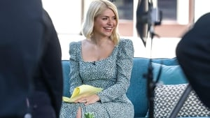 Holly Willoughby on the set of This Morning