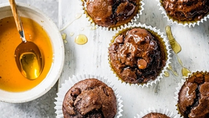 The addition of quinoa and sweet potato means David Atherton's muffins are healthier than your average bake.