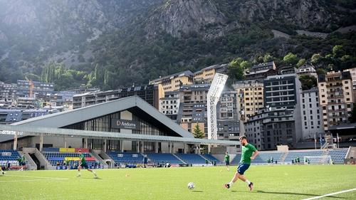 Ireland trained at the mountaintop stadium on Wednesday
