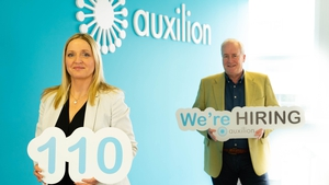 Eleanor Dempsey, Consulting & Competency Director at Auxilion and Philip Maguire, the company's founder and CEO