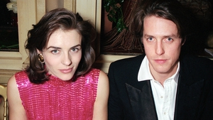 Elizabeth Hurley and Hugh Grant at the César Awards after-party in Paris in February 1995
