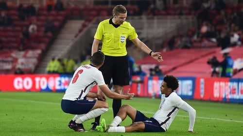 Alexander-Arnold picked up the injury late on against Austria