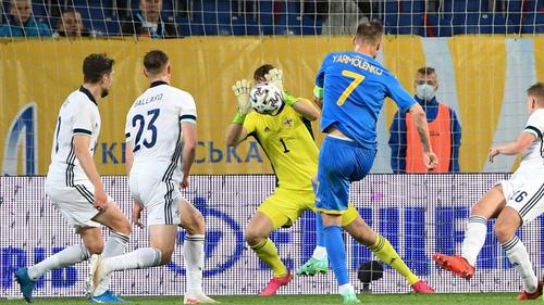 Northern Ireland lost narrowly to an early Oleksandr Zubkov goal tonight