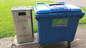 Extra bins in Arthur's Quay Park in Limerick city