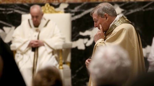 Former archbishop of Sidney cardinal George Pell attending the Easter Vigil Mass at St Peter's Basilica in April in the Vatican