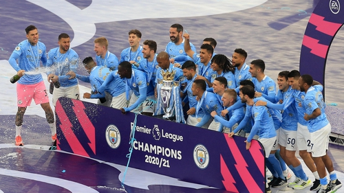 Six Manchester City players were named on the PFA Team
