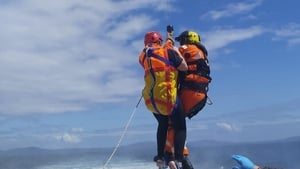 The woman has been airlifted to Kerry General Hospital (Pic: RNLI)