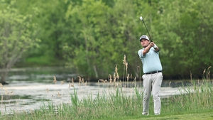 Cormac Sharvin sits on one-under par after the opening round.