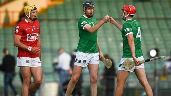 Sean Twomey and Diarmaid Byrnes congratulate each other after victory over Cork