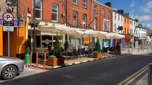 Parklets have been set up around Navan to allow for on-street outdoor dining