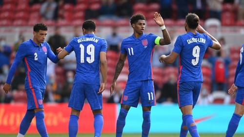 Marcus Rashford's penalty earned England a 1-0 win over Romania.