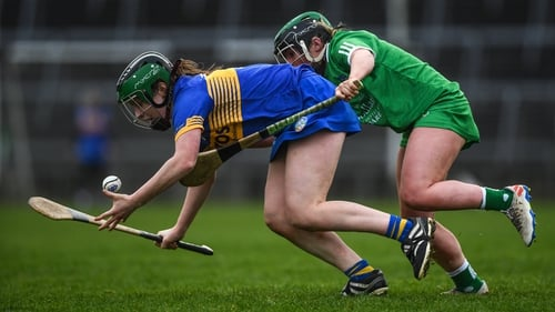 Roisin Howard, pictured above against Limerick last year, was among the scorers for Tipperary today