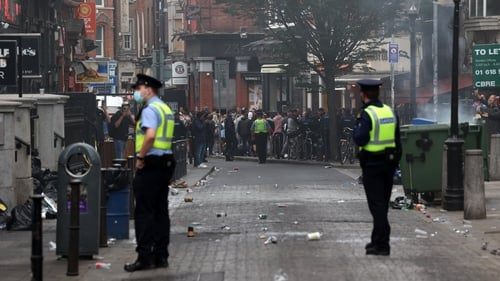 Gardaí on patrol in Dublin city centre at the weekend (pic: Rollingnews.ie)