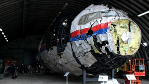 The judges visited the shrapnel-pierced wreckage for the first time in May