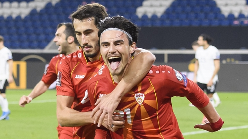 North Macedonia's Eljif Elmas (R) will be key to the underdogs' hopes