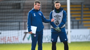Kenny and Matt Doherty during a training session in London last November