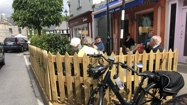 Westport town centre has seen significant investment in outdoor facilities