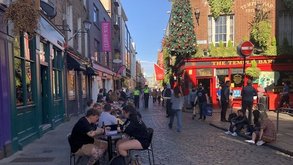 Total spend in bars and pubs soared by 246% on Monday compared to Sunday, Revolut figures show