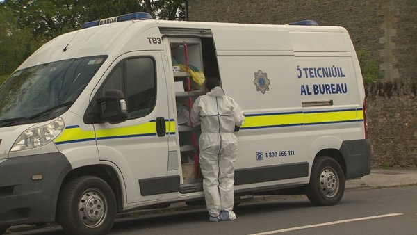 The scene in Clashmore was sealed off for a technical examination