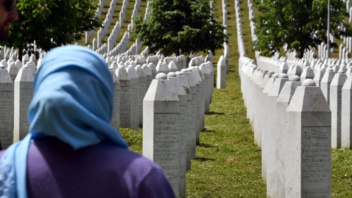 In 1995, Serb forces rounded up and killed more than 8,000 Muslim men and boys after they captured the town of Srebrenica