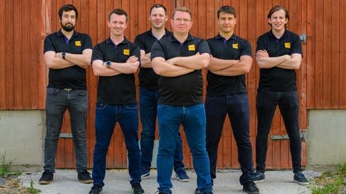 Members of the Iamus Technologies team, Brian Martin, Shane Phelan, Owen Grogan, Shane Kiernan (CEO), Thibaut Remark and Michael McGlynn