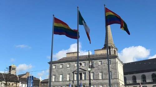 The flags had been erected to mark 'Pride of the Déise'