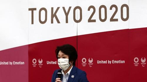 Tokyo 2020 president Seiko Hashimoto speaks during the Tokyo 2020 Olympic Games executive board meeting