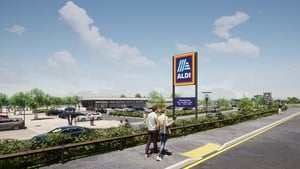 Aldi said the 1,315 sq. metre store will be powered by 100% green electricity