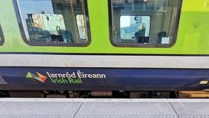 Passenger numbers on Irish Rail services were down 64% last year