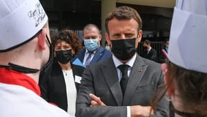 The incident took place while Emmanuel Macron was on a visit to the Drome region in south-eastern France