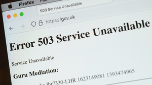 The UK's government website was among those to go down