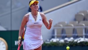 Anastasia Pavlyuchenkova is through to her first Grand Slam semi-final