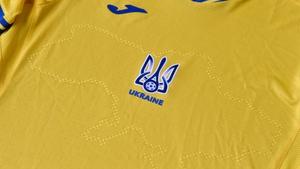 The Ukraine Euro 2020 jersey shows the outline of Ukraine including Crimea