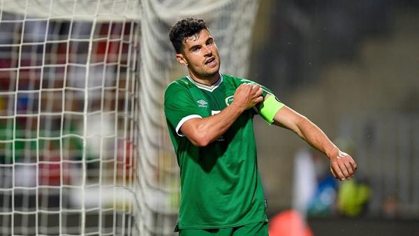 John Egan came closest to scoring for Ireland in Budapest