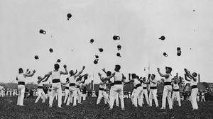 The German weight lifting championships in Villingen in 1929. Photo: Ullstein bild via Getty Images