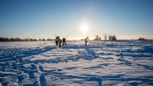 The research team used a drilling rig to collect core samples from Alazeya River in Russia's Far North (File photo)