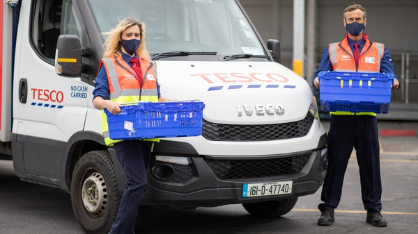 The expansion of Tesco's home grocery service comes despite a wider reopening of the economy and the phased ending of Covid restrictions
