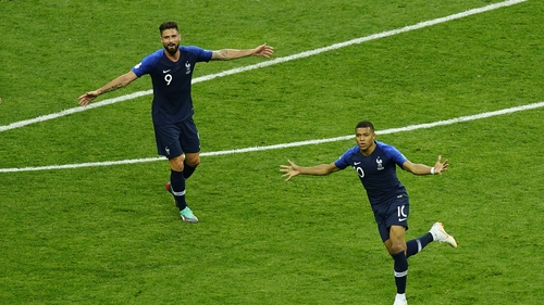 Giroud found the back of the net twice against Bulgaria, but was not impressed by the service provided by PSG star Mbappe during the game