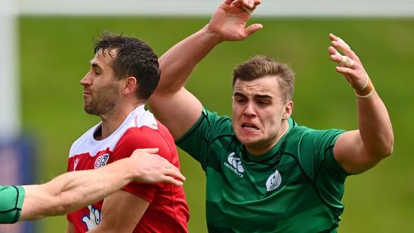 Kendellen in action for Ireland 7s in May