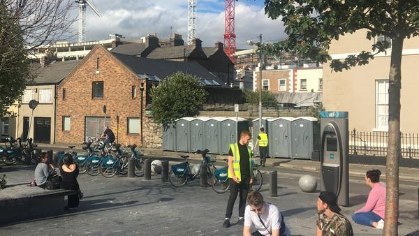 The new portaloos in Portobello, Dublin