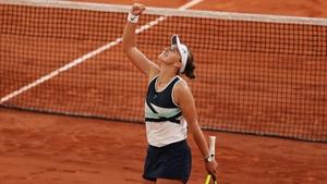 Barbora Krejcikova celebrates