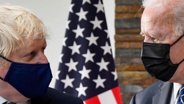 Joe Biden and Boris Johnson met in Cornwall on Thursday ahead of the G7 Summit
