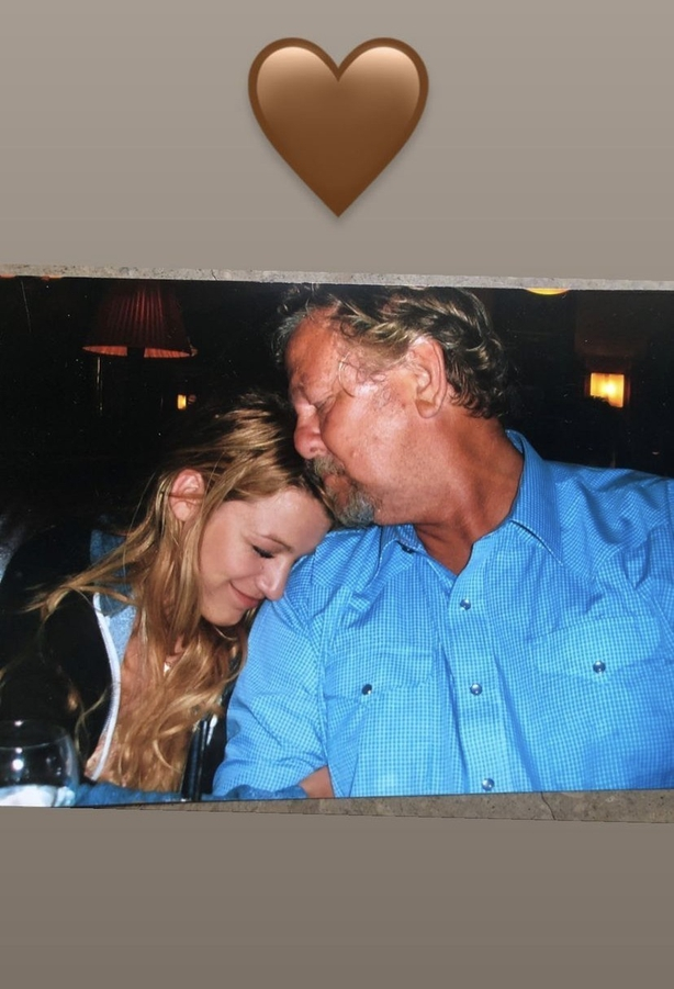 Blake Lively pays tribute to her father after his death